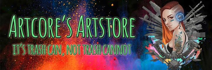 Artcore's Artstore - Ob für den Alltag, eine Convention oder für die Arbeit in der Werkstatt, mit diesem Merch seid ihr für alles gewappnet!  Perfekt für alle die nicht perfekt sein wollen und lieber sie selbst sind.