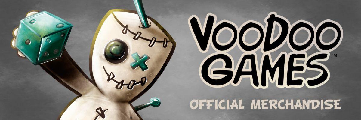 Voodoo Games - Official Merchandise - Willkommen im offiziellen Voodoo Games Merchandise Shop!  Hier kannst Du Dir die passenden Outfits und andere Artikel zu unseren Brettspielen sichern.  Wir werden unsere Produktreihe nach und nach erweitern, also vergiss nicht, ab und an vorbeizuschauen und nach neuen Produkten Ausschau zu halten!  Und nun viel Spaß beim Shoppen!