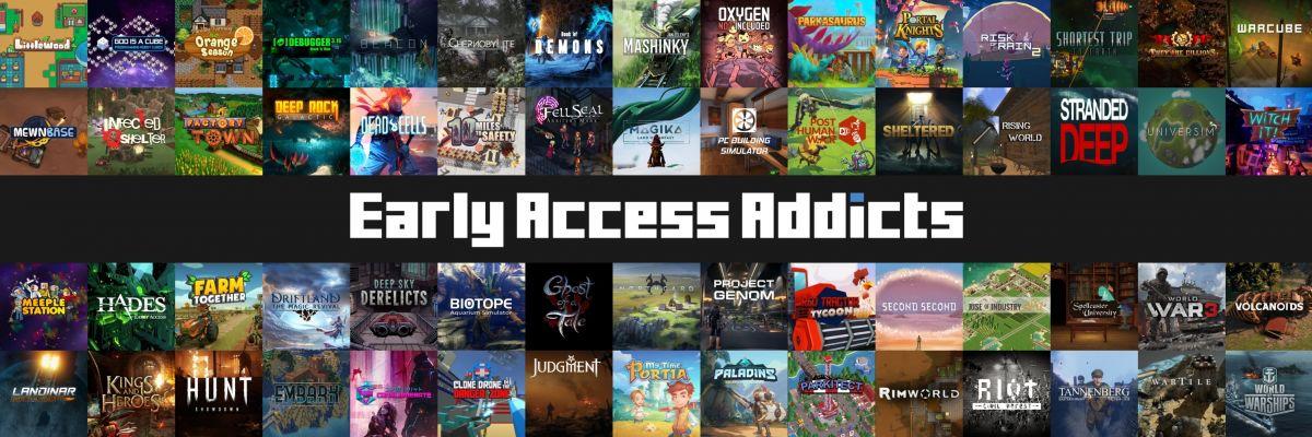 Offizieller Merch von Early Access Addicts - Ob Alpha oder Beta, Hauptsache Early Access. Informative und ehrliche Reviews von Gamern für Gamer!